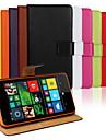 용 노키아 케이스 지갑 / 카드 홀더 / 스탠드 케이스 풀 바디 케이스 단색 하드 인조 가죽 NokiaNokia Lumia 1020 / Nokia Lumia 950 / Nokia Lumia 930 / Nokia Lumia 820 / Nokia
