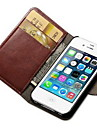 For iPhone 7 Plus Crazy Horse PU Leather Case with Card Slot and Stand for iPhone 6s 6 Plus 5SE 5S 5