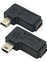 cy® женщина Mini USB для мужского слева и справа поворота мини USB-адаптер
