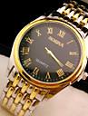 L.WEST Men\'s Steel Belt Analog Quartz Watch Wrist Watch Cool Watch Unique Watch