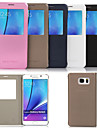 Original Flip PU Leather View Window Smart Auto-Sleep Full Body Case for Samsung Galaxy Note 5