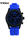 SINOBI Men\'s Sport Watch Wrist watch Water Resistant / Water Proof Sport Watch Quartz Silicone Band Blue