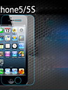 Vidrio templado 1pc clara pelicula de la pantalla frontal para el iphone 5 / 5s / 5c
