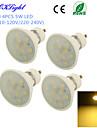 5W GU10 Faretti LED A50 10 SMD 5730 450 lm Bianco caldo Decorativo AC 220-240 / AC 110-130 V 4 pezzi
