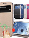 Для Кейс для  Samsung Galaxy Бумажник для карт / со стендом / с окошком / Флип Кейс для Чехол Кейс для Один цвет Искусственная кожа