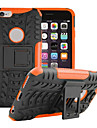 Shockproof / with Stand Case Back Cover Case Armor Soft Silicone for iPhone 7 7 Plus 6s 6 Plus SE 5s 5