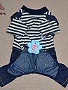 Cat / Dog Clothes/Jumpsuit / Clothes/Clothing Green / Blue Summer Cartoon / StripeCosplay / Birthday / Valentine / Holiday / Cowboy /