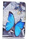 sommerfugl mønster pu læder hele kroppen tilfældet TPU med stativ til Samsung Galaxy Tab e sm-T560 sm-t561