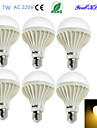 7W E26/E27 Круглые LED лампы B 12 SMD 5630 550 lm Тёплый белый Декоративная AC 220-240 V 6 шт.