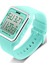 SKMEI® Women\'s Candy Color Silicone Square LCD Digital Sports Strap Watch Cool Watches Unique Watches