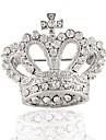 серебрение горный хрусталь брошь моды корону брошь свадьбы 1шт