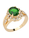 Statement Rings Gemstone Alloy Fashion Green Jewelry Party Daily Casual 1pc