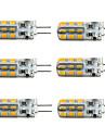 3W G4 LED лампы типа Корн T 24 SMD 2835 160-190 lm Тёплый белый / Холодный белый Регулируемая DC 12 V 6 шт.