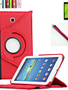 New 360 Rotating PU Leather Stand Case Cover For Samsung Galaxy Tab Tab 3 7.0 P3200 T210 Tablet+Stylus+Film