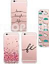 Pour Coque iPhone 6 Coques iPhone 6 Plus Etuis coque Transparente Motif Coque Arriere Coque Dessin Anime Flexible PUT pouriPhone 6s Plus