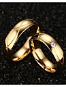 Ring Wedding / Party / Daily / Casual / Sports Jewelry Titanium Steel / Gold Plated Couples Statement Rings 1 pair,5 / 6 / 7 / 8 / 9 / 10