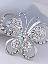 Women\'s Crystal Butterfly AnImal Brooch for Wedding Party Decoration Scarf ,Fine Jewelry,Random Color