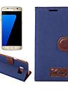 Para Case Tampa Carteira Porta-Cartao Com Suporte Flip Corpo Inteiro Capinha Cor Unica Rigida Textil para SamsungS8 S8 Plus S7 edge S7 S6