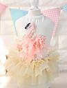 Cat Dog Dress Dog Clothes Summer Spring/Fall Floral / Botanical Fashion White Blushing Pink