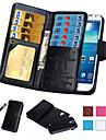 Pour Samsung Galaxy Note Porte Carte Portefeuille Clapet Coque Coque Integrale Coque Couleur Pleine Cuir PU pour SamsungNote 5 Note 4
