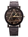 남성 손목 시계 독특한 창조적 인 시계 석영 캐쥬얼 시계 스테인레스 스틸 밴드 블랙