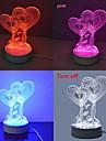 Jiawen 3.5W lampada criativa mesa de luz 3d ilusao (110-220V)