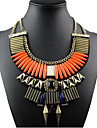 Women\'s Statement Necklaces Alloy Fashion Statement Jewelry Orange Royal Blue Jewelry Special Occasion Birthday Gift