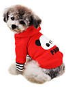 Dog Hoodie Red / Pink Dog Clothes Winter Cartoon / Letter & Number Fashion