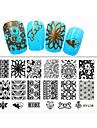 1pcs nouvelle 12x6cm images des modeles d\'art plaques d\'estampage diy nail polish pochoirs pour xy-l16 (16-20)