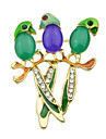 multicolors bonito do papagaio Coreia do pequeno broche