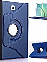For Samsung Galaxy Case with Stand / Flip / 360° Rotation Case Full Body Case Solid Color PU Leather Samsung Tab S2 8.0