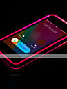 Pour Coque iPhone 7 Coques iPhone 7 Plus Coque iPhone 6 Coques iPhone 6 Plus Phosphorescent Lampe LED Allumage Auto Transparente Coque