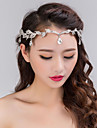 Women\'s Silver Crystal Rhinestone Headband Forehead Hair Jewelry for Wedding Party