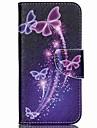 Pour Coque Acer Porte Carte / Avec Support / Clapet / Motif Coque Coque Integrale Coque Papillon Dur Cuir PU pour Acer