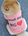 Comfortable Cool Pure Color Words Pet T-shirt