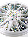 1wheel White Shiny AB Rhinestone 3d Nail Art Decorations