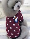 Perros Camiseta Azul / Vino Ropa para Perro Invierno / Primavera/Otono Estrellas Casual/Diario