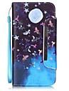 Para Capinha iPhone 6 / Capinha iPhone 6 Plus Carteira / Porta-Cartao / Com Suporte Capinha Corpo Inteiro Capinha Borboleta RigidaCouro