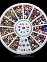 러블리-핑거 / 발가락-네일 쥬얼리-아크릴-1wheel colorful nail decoration wheel-6cm wheel