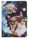 For Samsung Galaxy Case Card Holder / Wallet / with Stand / Flip / Pattern Case Full Body Case Cat PU Leather SamsungTab 4 8.0 / Tab 4