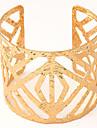 Women\'s European Fashion Wild Matte Metal Hollow Cuff Bracelets
