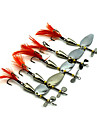 Factory Spoon Fishing Lures 95mm 13.6g Metal Spoon Spinner Baits Random Colors