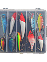 "10 pcs Hard Bait Lure kits Fishing Lures Crank Hard Bait Spoons Lure Packs Minnow Pencil Vibration/VIB g/Ounce mm/4"" inch,Hard PlasticSea"