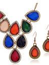 Ensemble de bijoux Gemme Strass Mode Goutte Couleur Assortie Collier / Boucles d\'oreilles Set de BijouxMariage Soiree Occasion speciale