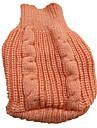 Собаки Свитера Красный / Оранжевый / Желтый / Синий / Коричневый / Розоватый Одежда для собак Зима Однотонный