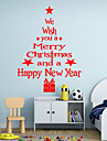 Christmas Wall Decals Words & Quotes / Holiday / Shapes Wall Stickers Plane Wall Stickers,vinyl 43*24cm