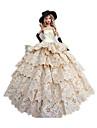 Princesse Costumes Pour Poupee Barbie Robes Gants Chapeau Pour Fille de Jouets DIY
