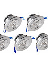 Ywxlight® 5pcs 3w 300-350lm support luminaire reglable luminaire led lumieres au plafond
