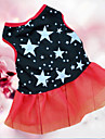 Dog / Cat Dress Black Summer Stars Wedding / Cosplay