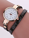 Women\'s Quartz Analog White Case Multilayer Leather Band Bracelet Wrist Fashion Watch Jewelry Cool Watches Unique Watches